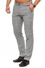 Spodnie bawełniane w kratę - Vankel - Model 057