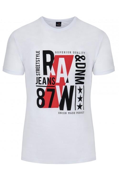 Koszulka męska - Tshirt - Raw87 Denim - miętowa