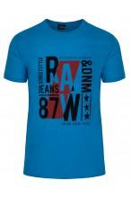 Koszulka męska - Tshirt - Raw87 Denim - niebieska