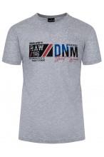 Koszulka męska - Tshirt - DNM Denim - szara