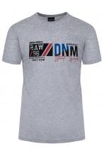 Koszulka męska - Tshirt - DNM Denim - grafitowa