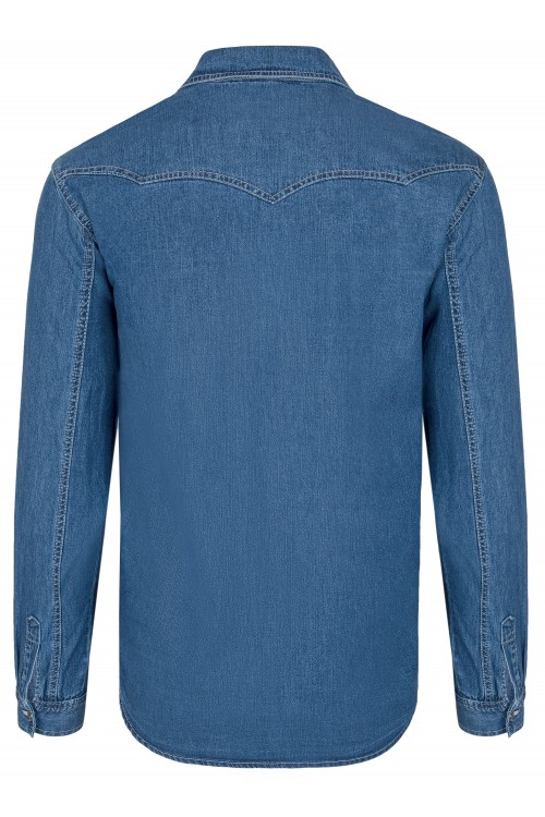 Koszula męska jeansowa - Stanley Jeans - No1