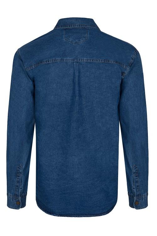 Koszula męska jeansowa - Bawełniana - No2