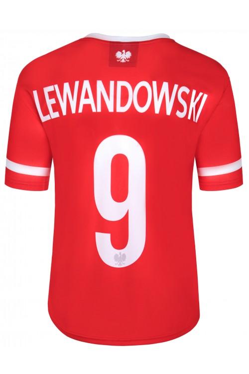 Polska - koszulka kibica - piłkarska - Lewandowski - czerwona