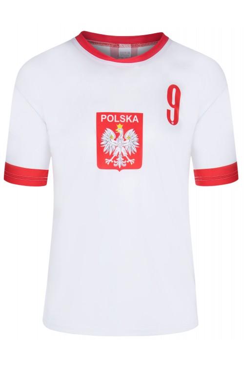 Polska - koszulka kibica - piłkarska - Lewandowski - biała