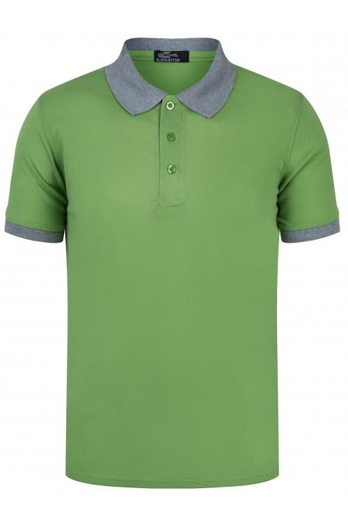 Koszulka męska POLO no.1 - bawełniana - zielona