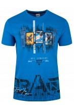 Koszulka męska - Tshirt - Brand DX - niebieska
