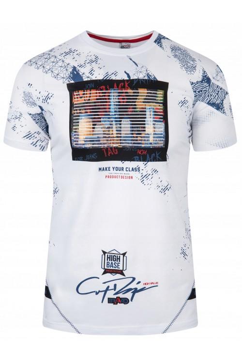 Koszulka męska - Tshirt - High Base - biała