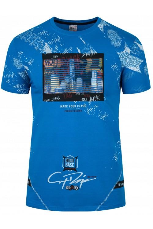 Koszulka męska - Tshirt - High Base - niebieska