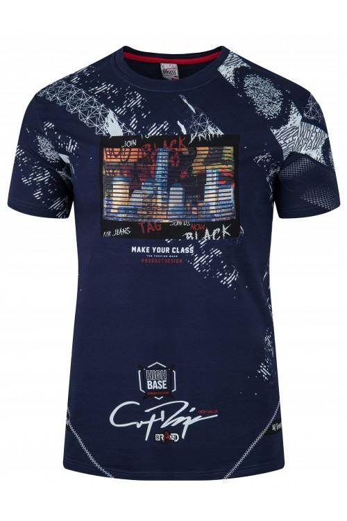 Koszulka męska - Tshirt - High Base - granatowa