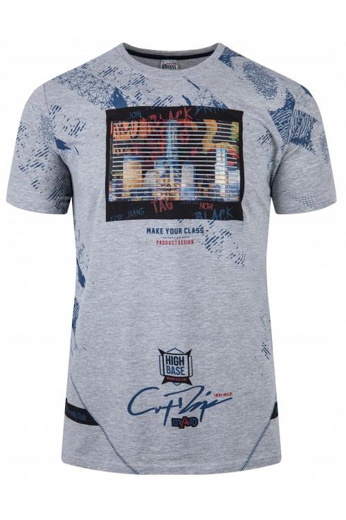 Koszulka męska - Tshirt - High Base - szara