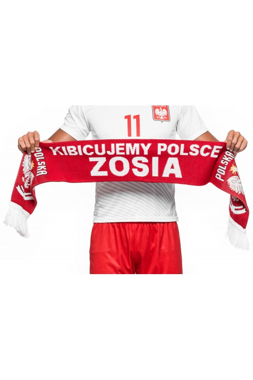 Szalik reprezentacji - POLSKA - z Twoim imieniem